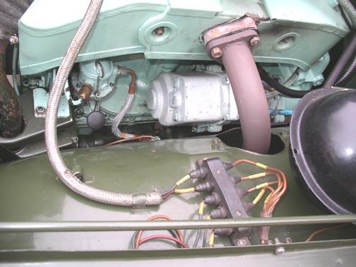 austin champ removing the starter motor starter motor